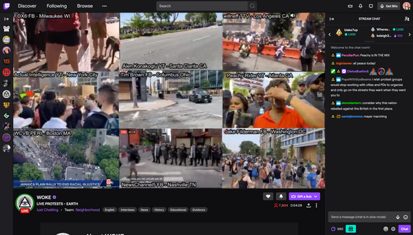 Black Lives Matter Protests Among the Most-Watched Content on Twitch